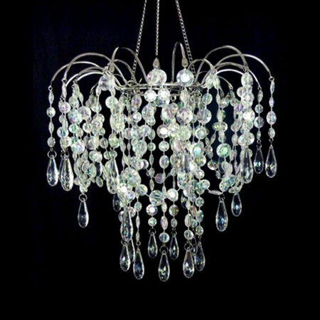 Small Prism Bead Valance Chandelier