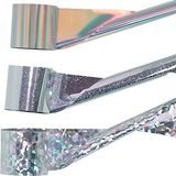 Silver Holographic Streamer - 2 in.