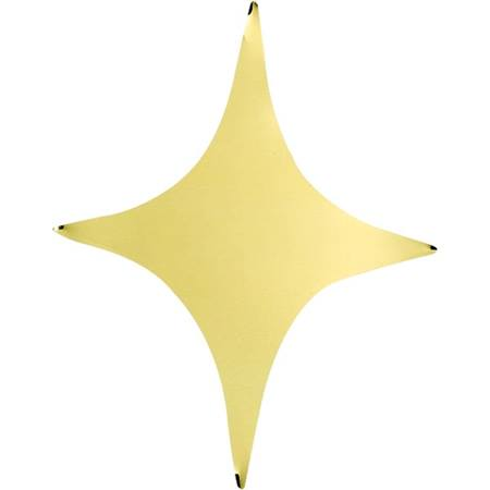 6 in 4 Point Metallic Stars