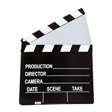 Hollywood Clapboard Cutout