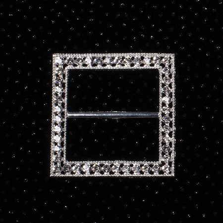 Square Diamond Brooch Set (set of 2)