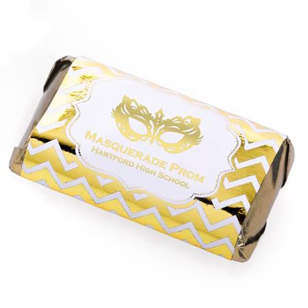 Metallic Foil Mini Candy Bar Wrappers - Gold Chevron