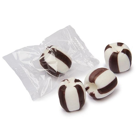 Meltaway Crumble Candies - Black and White