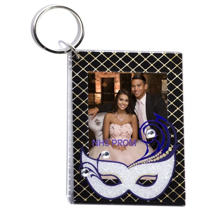 Mysterious Mask Photo Key Chain