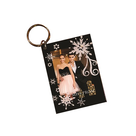 Frozen Fractals Photo Key Chain