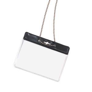 Blank Horizontal Photo ID Holder with Chain