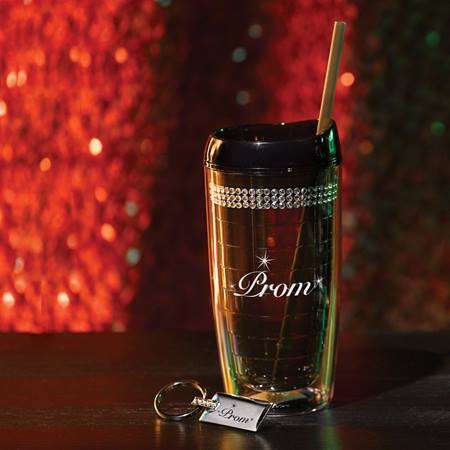 Blinged Out Tumbler and Key Chain Favor Set