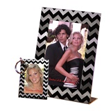 Chevrons Frame and Key Chain Favors Set