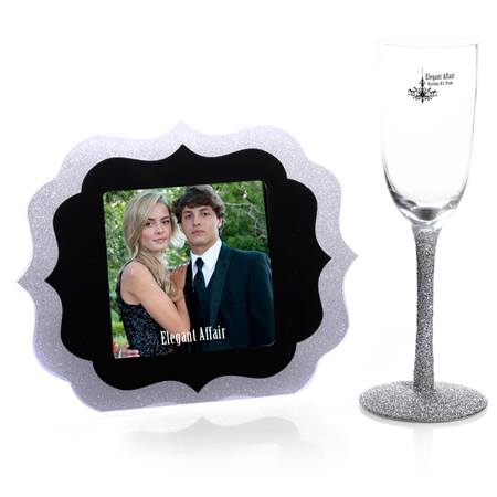 Silver Magic Frame and Flute Favor Set