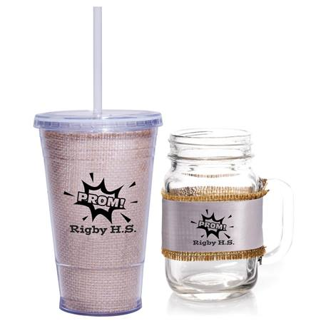 Shabby Chic Mason Jar and Cup Favor Set
