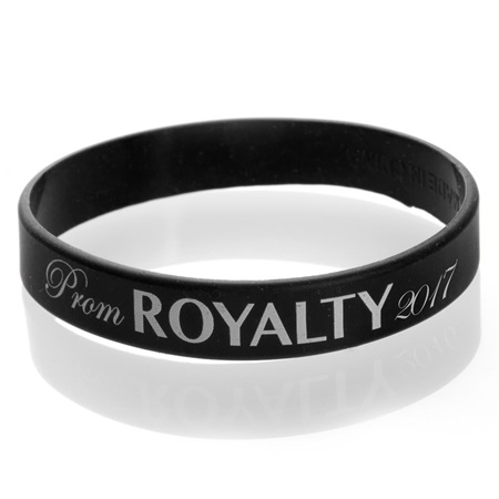 Prom Royalty 2016 Wristband - Black/White