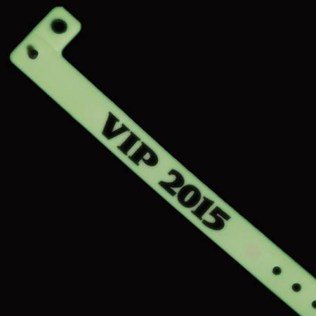 "Glow-in-the-Dark ""VIP 2015"" Wristband"