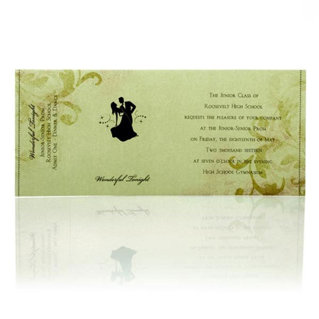 Champagne Black Sleeve Invitation