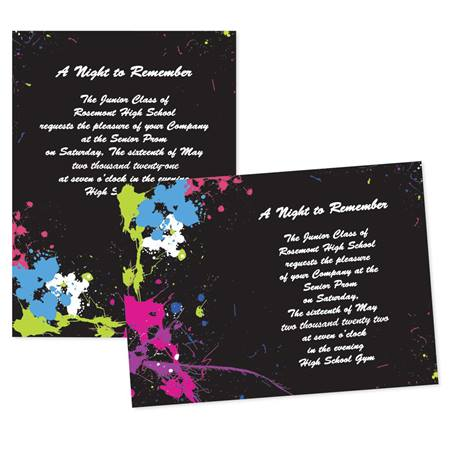 Full-color Invitations - Prismatic