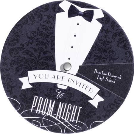 Spin and Reveal Invitation - Tuxedo
