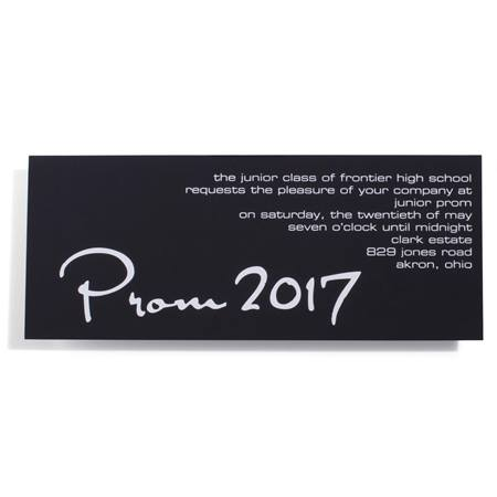 "Sleek and Chic ""Prom 2016"" Foil Invitation"