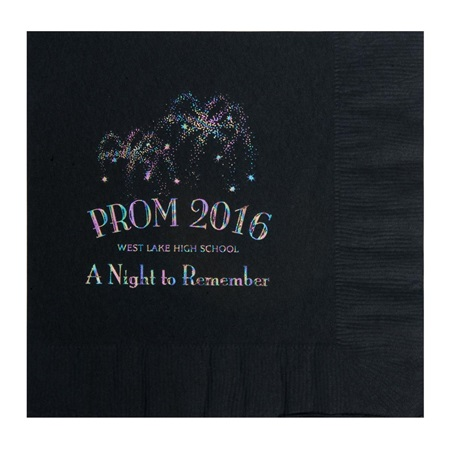 Foil Fireworks Luncheon Napkin