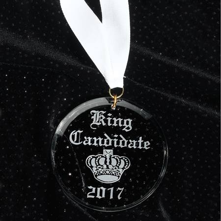 Etched Acrylic King Medallion