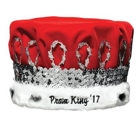 Prom King 2016 Regal Crown with Silver Band