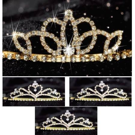 Gold Lady-in-Waiting Queen and Court Tiara Set