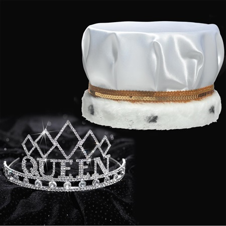 Satin Homecoming King & Queen Set - Empress Tiara