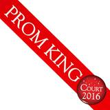 Prom King Sash and Button Set - Red