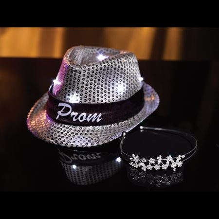 Cascia Tiara with Light-up Fedora Set