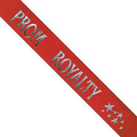 Prom Royalty Sash with Stars - Red