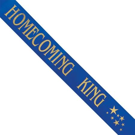 Homecoming King Sash with Gold Stars