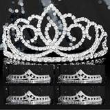 Tiara Set - Silver Sasha Queen and Cleo Court