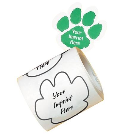 Custom Paw Sticker Roll