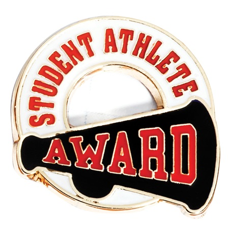 Red Student Athlete Sports Award Pin