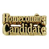 Homecoming Candidate Gold-Tone Pin