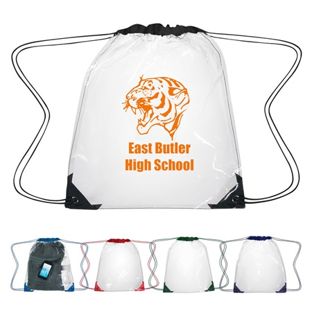 See-Through Drawstring Backpack