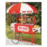 Vintage Collection™ Hot Dog Vending Cart With Umbrella