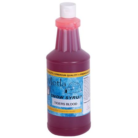 Sno Cone Syrup Tigers Blood Quart