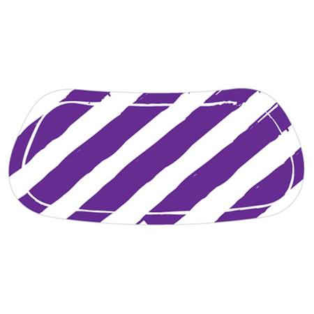 Purple/White Diagonal Stripe EyeBlacks
