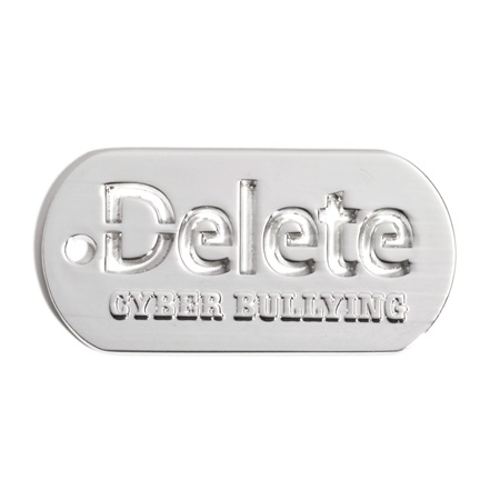 Delete Cyber Bullying Die-cut Dog Tag