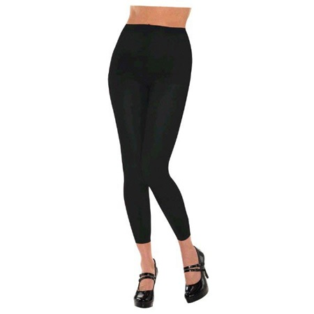Black Footless Spirit Tights
