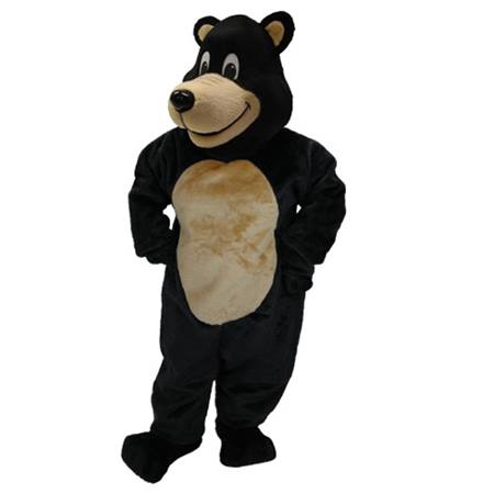 Jolly Black Bear Mascot Costume