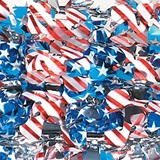 Floral Sheeting - 36 in. x 10 yds. Metallic Patriotic