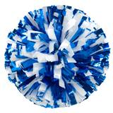 Metallic Cheerleader Pom-Poms - 4 in. Two Color Mix with Baton Handle