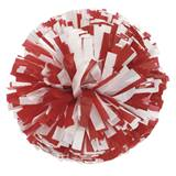 Plastic Two Color Mix Pom-Poms - 8 in