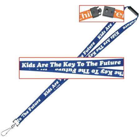 """Kids Are the Key to the Future"" Breakaway Lanyard - blue"