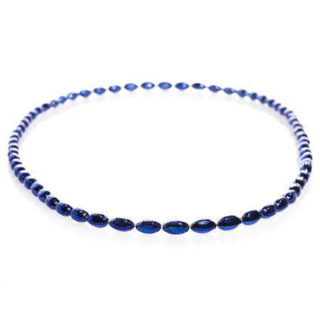 Mini Football Bead Necklaces - Navy Blue