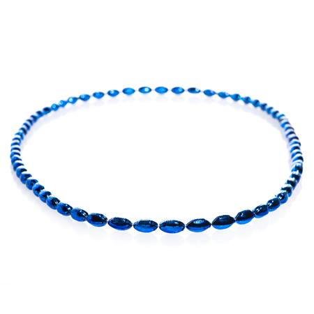 Mini Football Bead Necklaces - Royal Blue