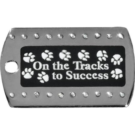 Bling Dog Tag - On the Tracks to Success