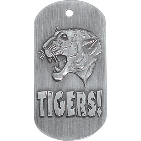 Embossed Dog Tag - Tiger
