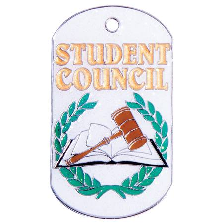 Student Council Glitter Dog Tag