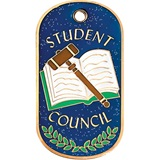 Glitter Dog Tag - Student Council